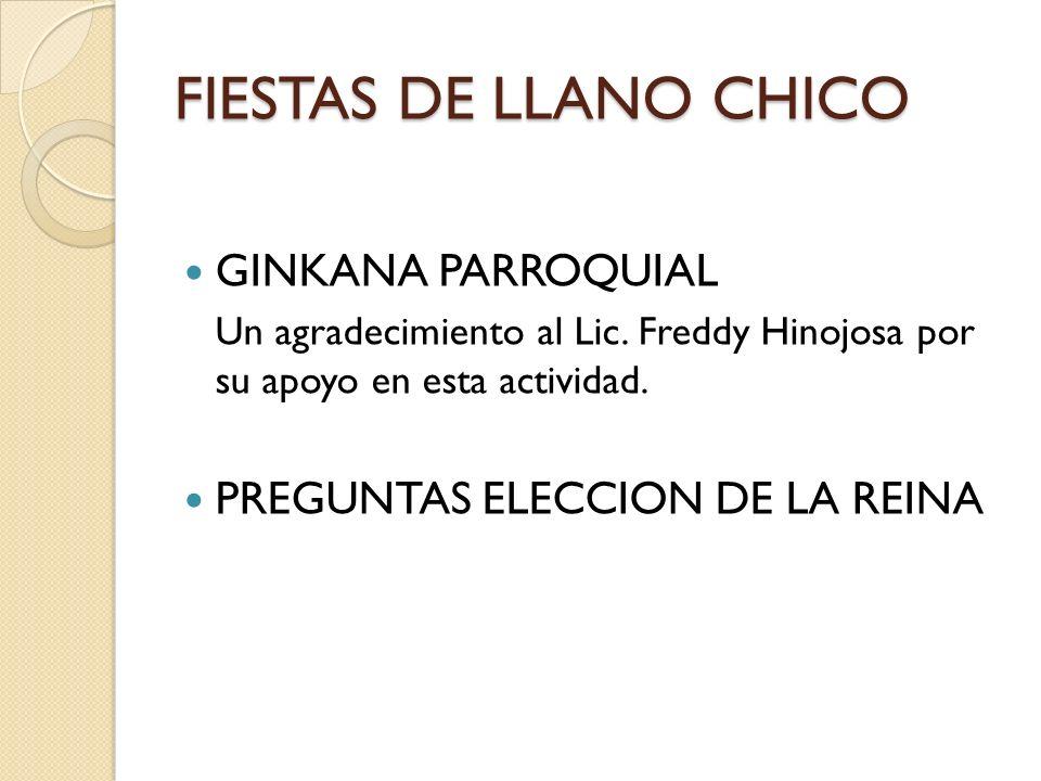 FIESTAS DE LLANO CHICO GINKANA PARROQUIAL