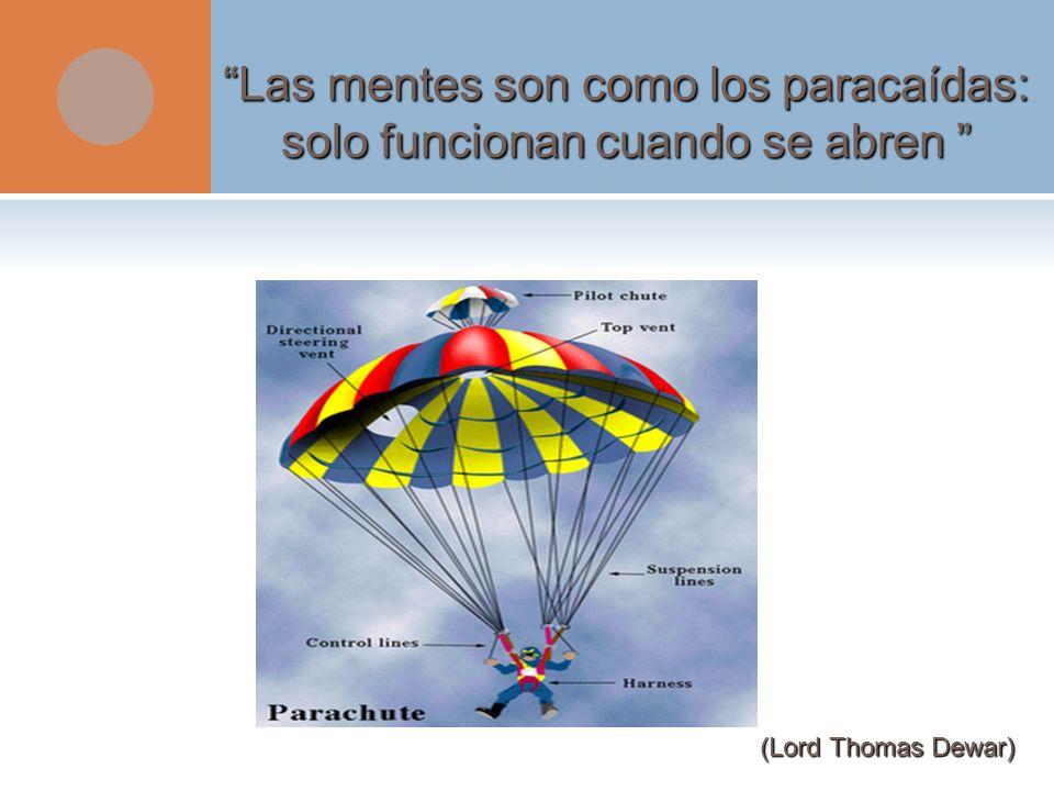 Las mentes son como los paracaídas: solo funcionan cuando se abren