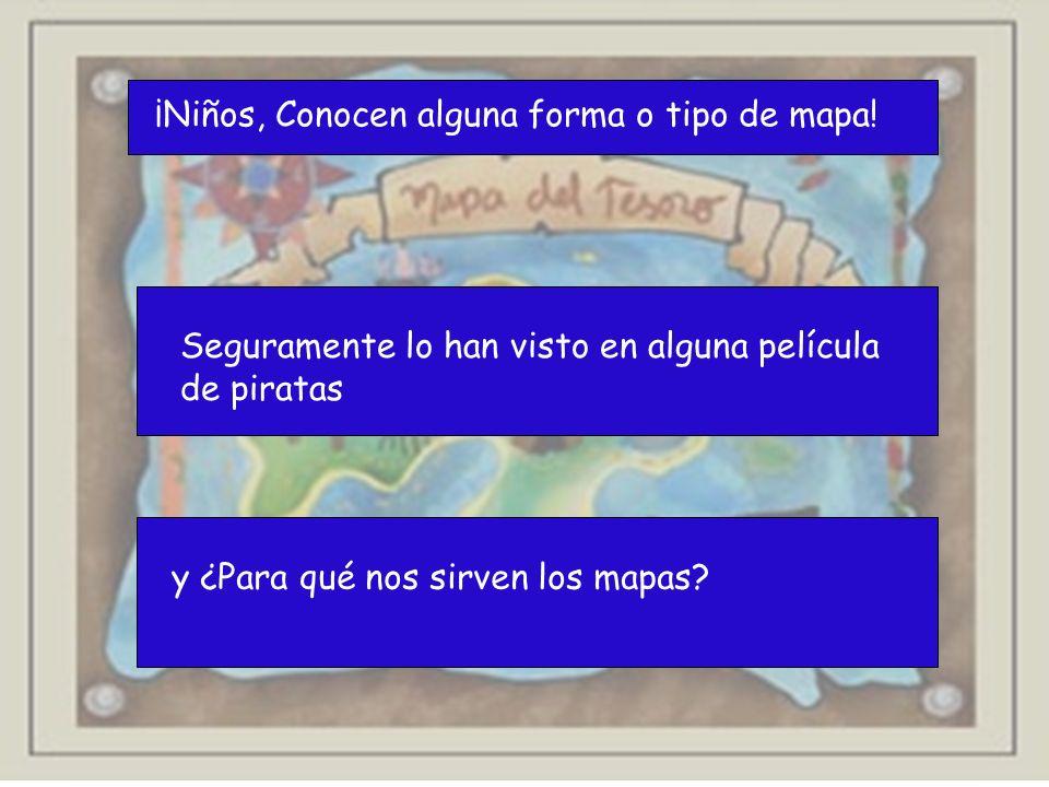 ¡Niños, Conocen alguna forma o tipo de mapa!