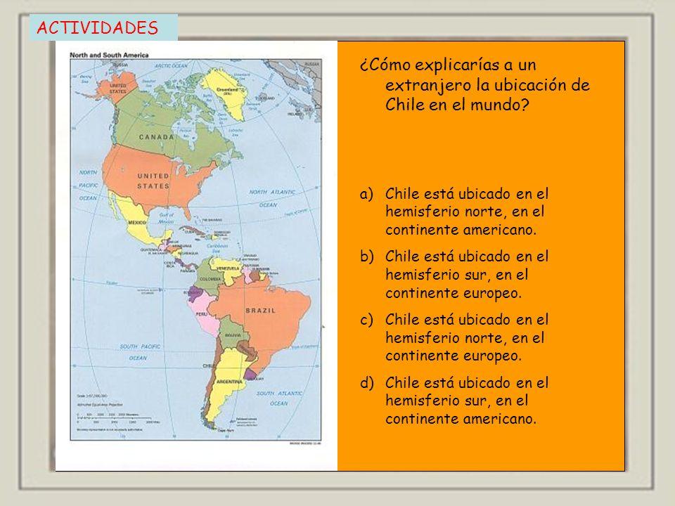 ¿Cómo explicarías a un extranjero la ubicación de Chile en el mundo