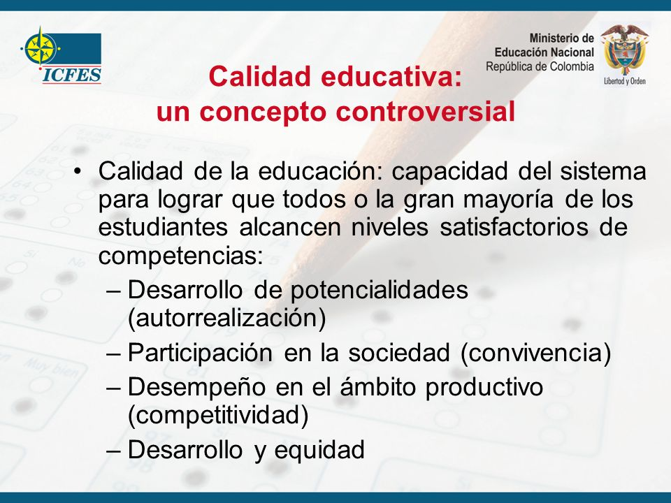 Calidad educativa: un concepto controversial