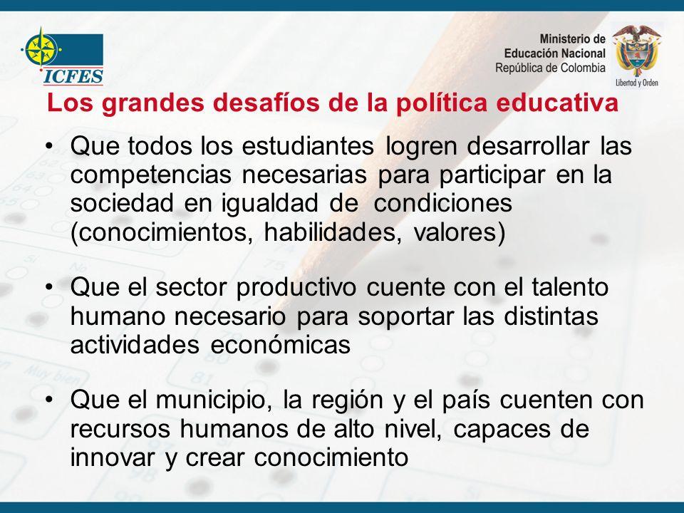 Los grandes desafíos de la política educativa