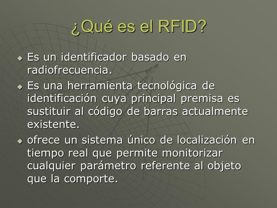 ¿Qué es el RFID Es un identificador basado en radiofrecuencia.