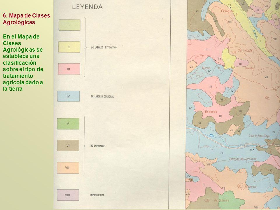 6. Mapa de Clases Agrológicas