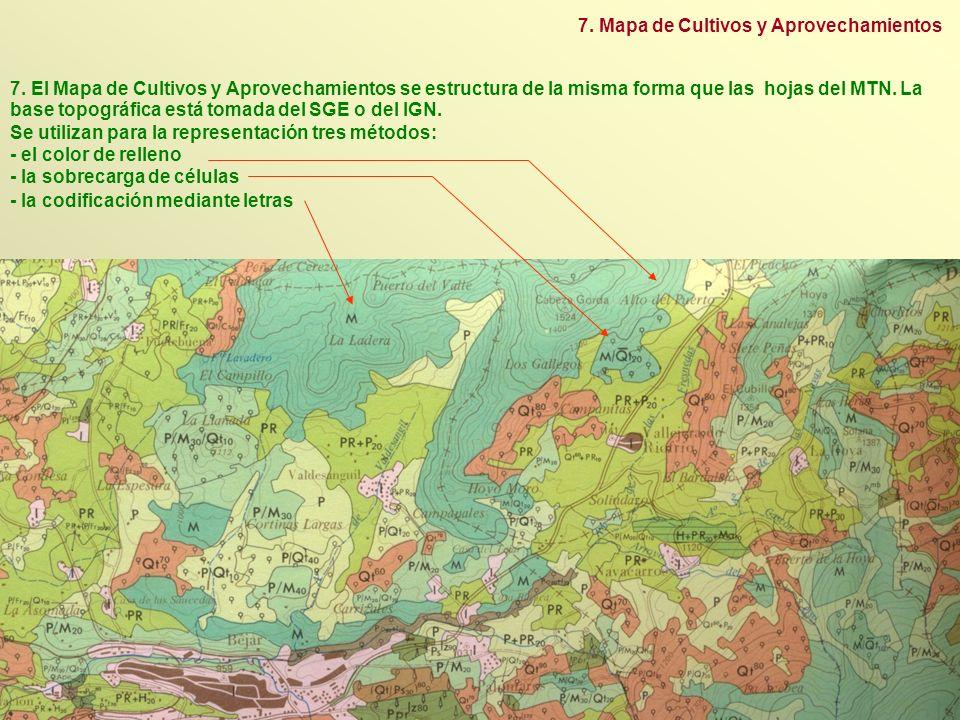 7. Mapa de Cultivos y Aprovechamientos