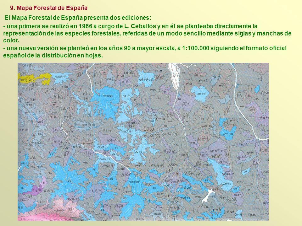 El Mapa Forestal de España presenta dos ediciones: