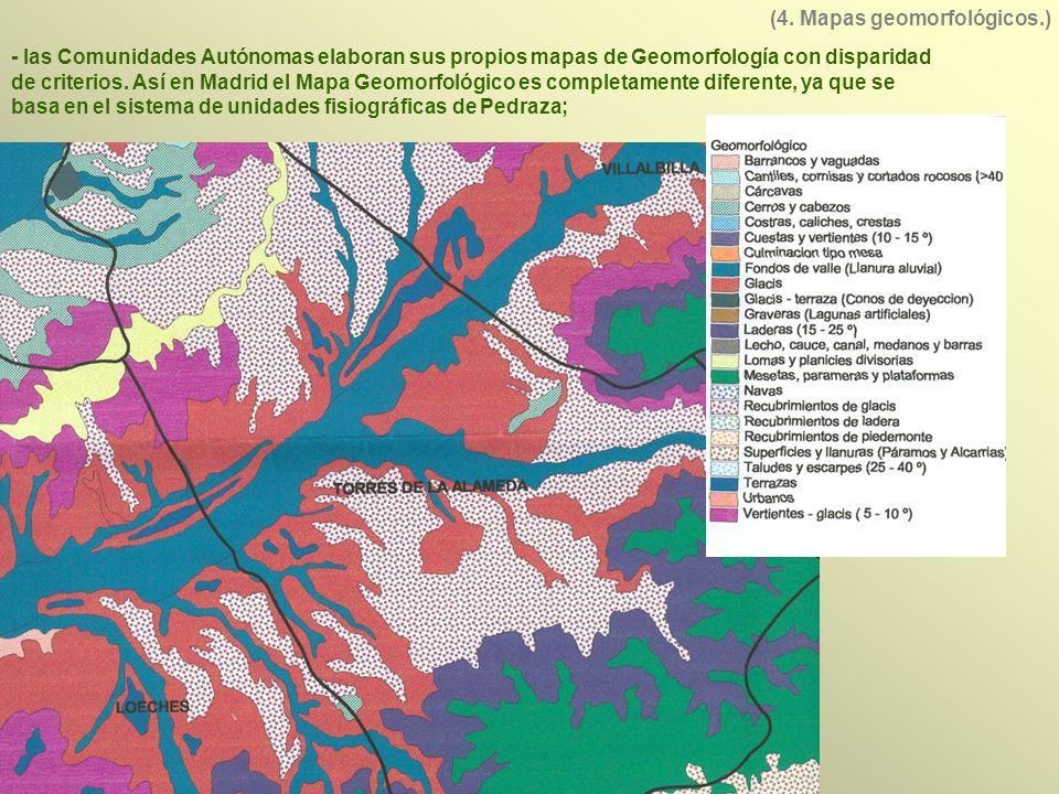 (4. Mapas geomorfológicos.)