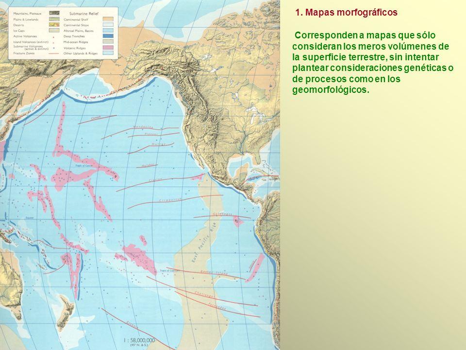 1. Mapas morfográficos