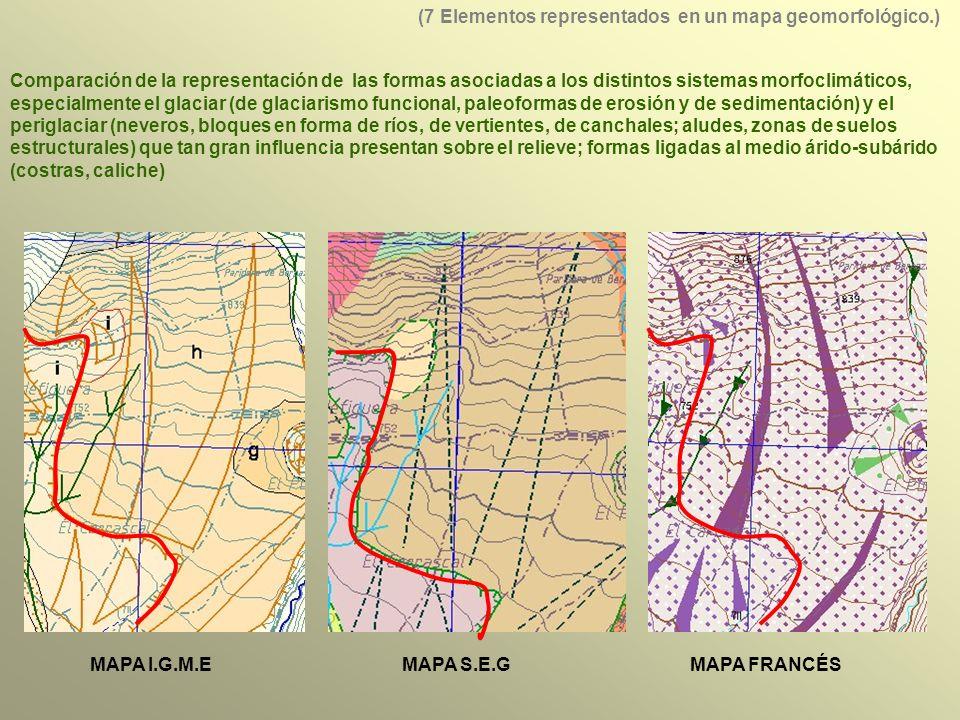 (7 Elementos representados en un mapa geomorfológico.)