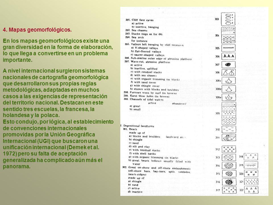 4. Mapas geomorfológicos.