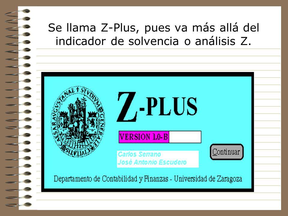 Se llama Z-Plus, pues va más allá del indicador de solvencia o análisis Z.
