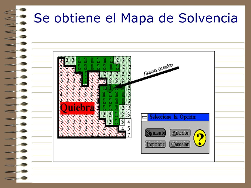 Se obtiene el Mapa de Solvencia