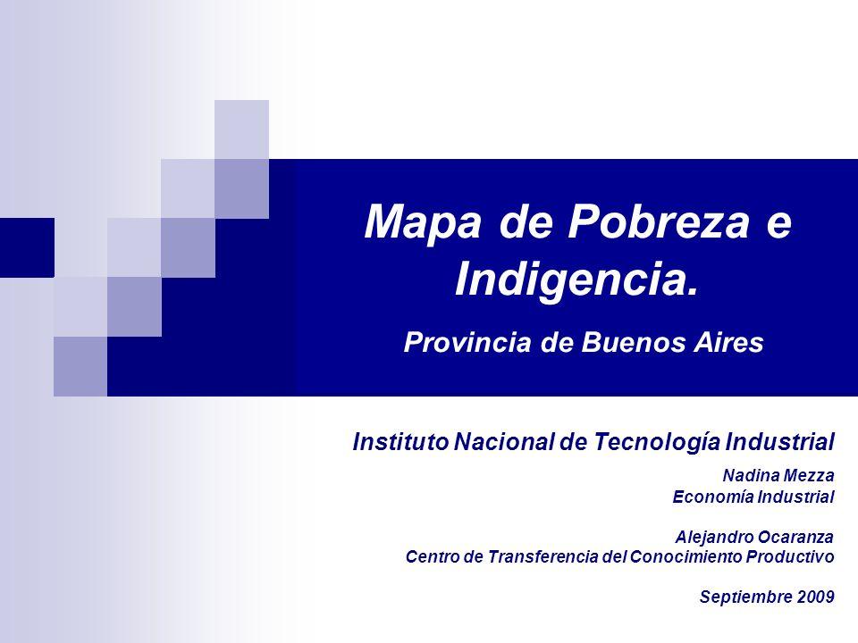 Mapa de Pobreza e Indigencia. Provincia de Buenos Aires