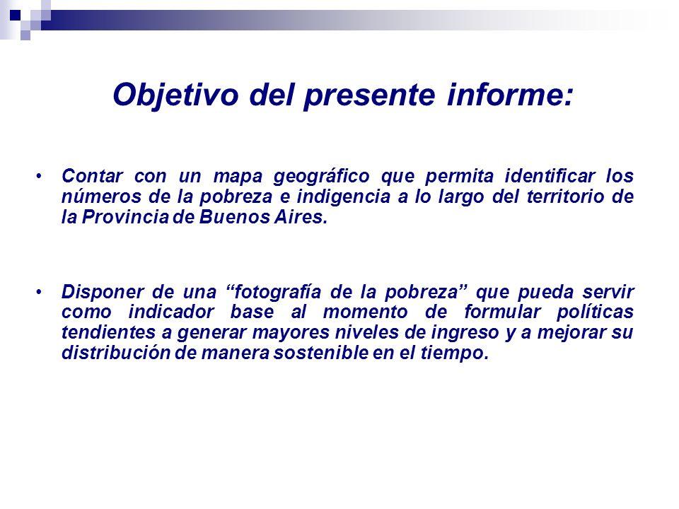 Objetivo del presente informe: