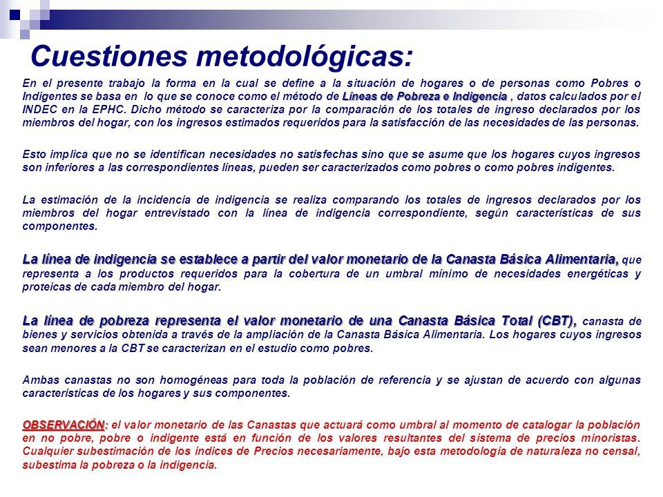 Cuestiones metodológicas: