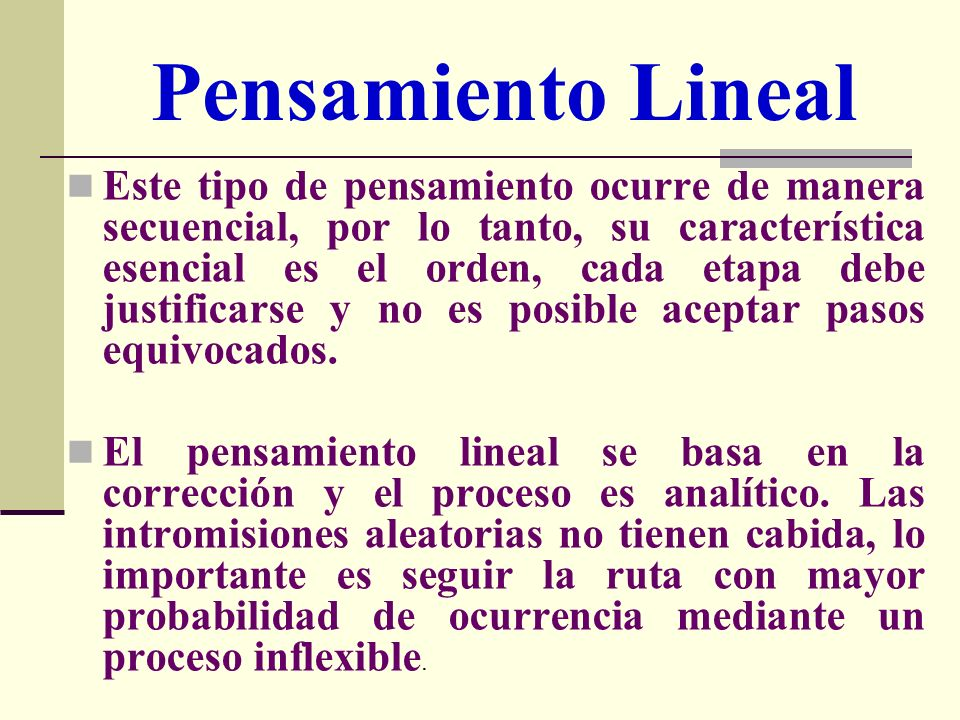 Pensamiento Lineal
