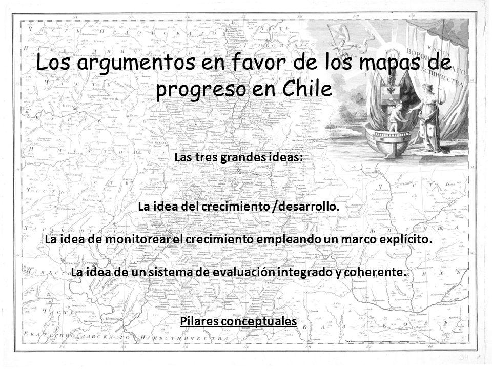 Los argumentos en favor de los mapas de progreso en Chile