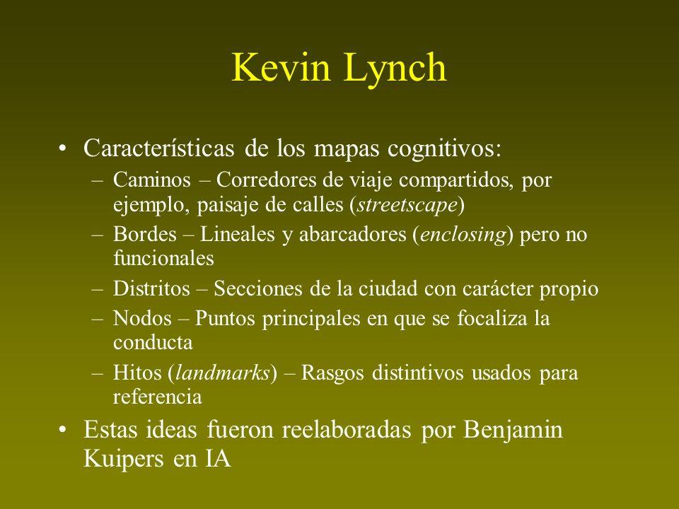 Kevin Lynch Características de los mapas cognitivos: