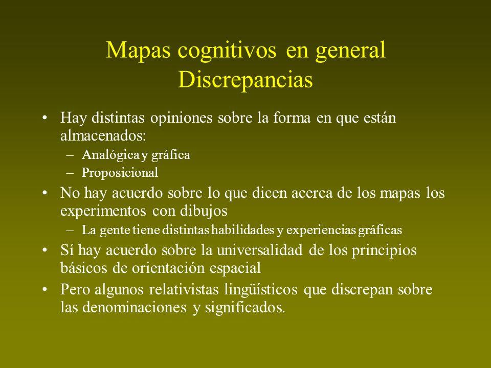 Mapas cognitivos en general Discrepancias