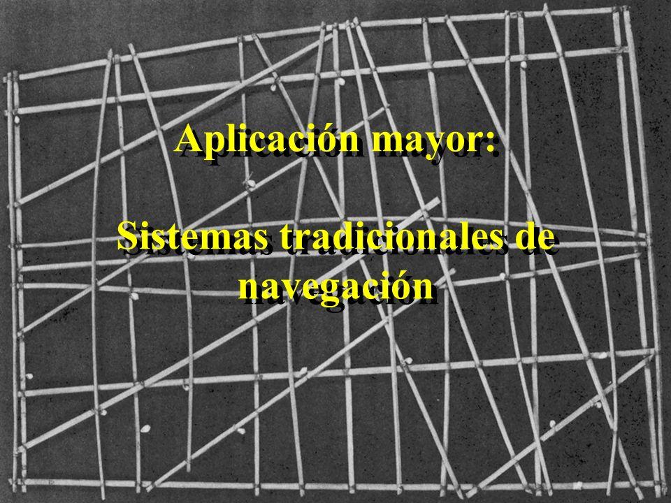 Aplicación mayor: Sistemas tradicionales de navegación