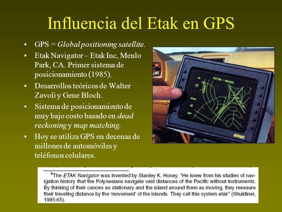 Influencia del Etak en GPS