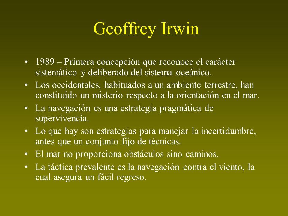 Geoffrey Irwin 1989 – Primera concepción que reconoce el carácter sistemático y deliberado del sistema oceánico.