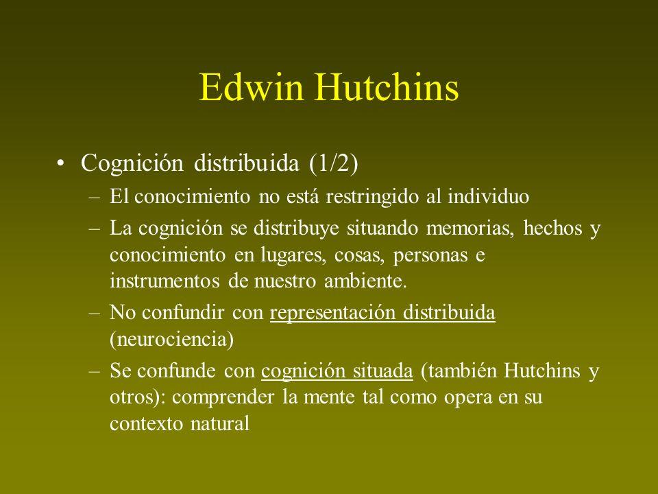 Edwin Hutchins Cognición distribuida (1/2)