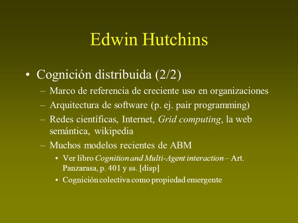 Edwin Hutchins Cognición distribuida (2/2)