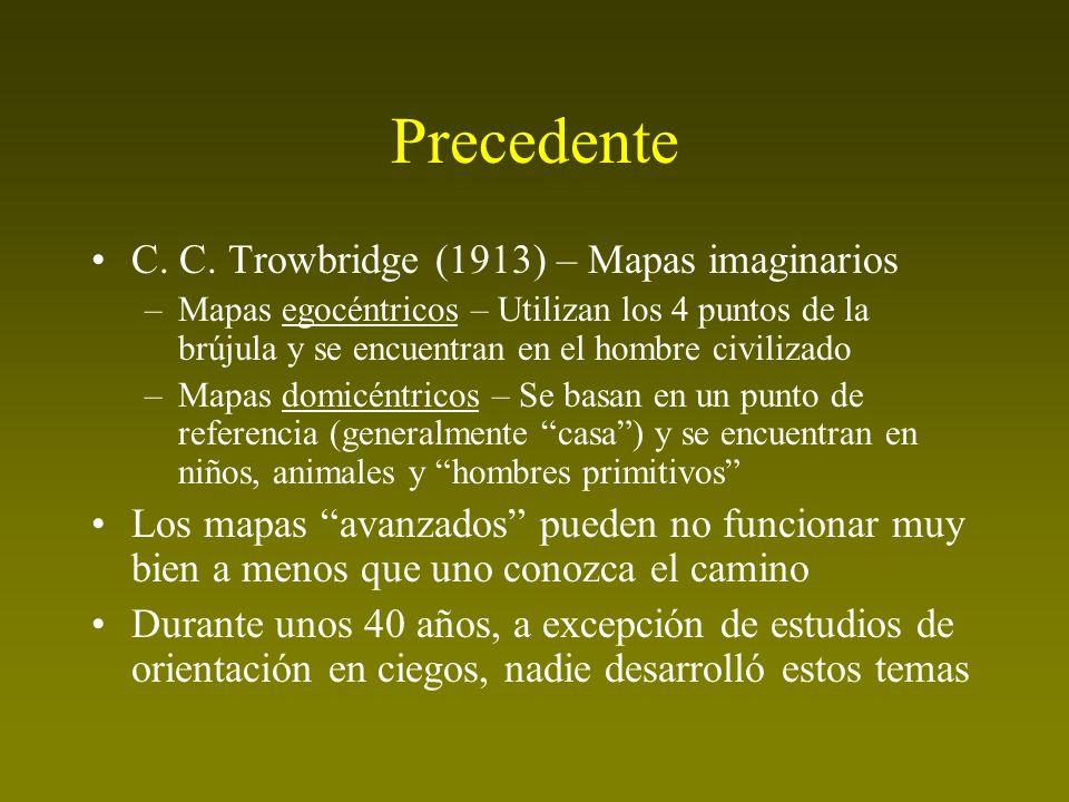 Precedente C. C. Trowbridge (1913) – Mapas imaginarios