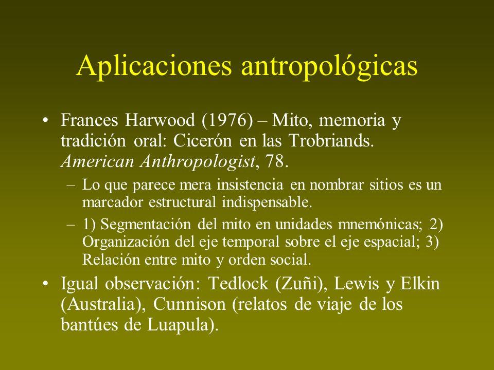 Aplicaciones antropológicas