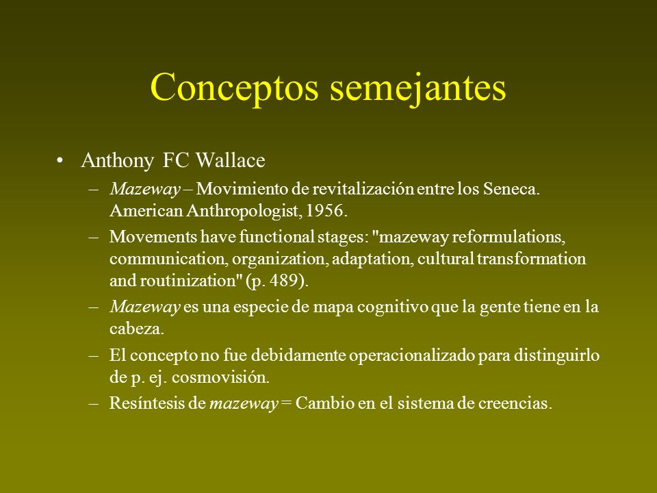 Conceptos semejantes Anthony FC Wallace