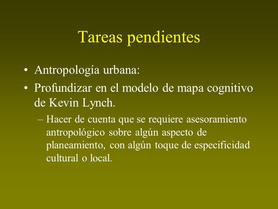 Tareas pendientes Antropología urbana: