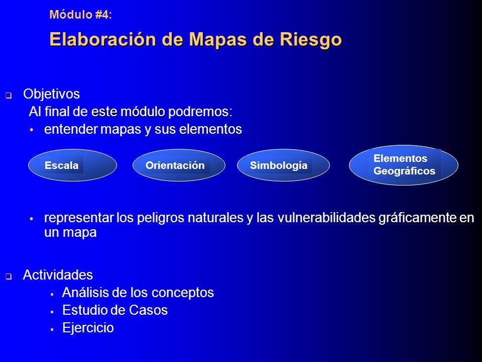 Elaboración de Mapas de Riesgo