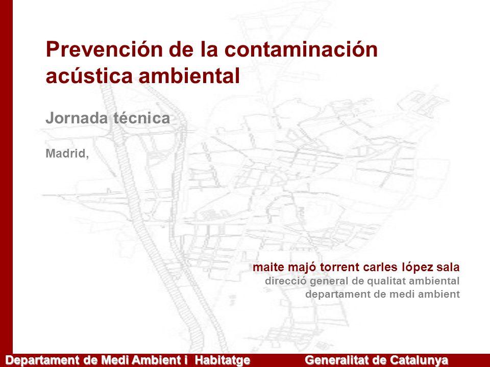 Prevención de la contaminación acústica ambiental