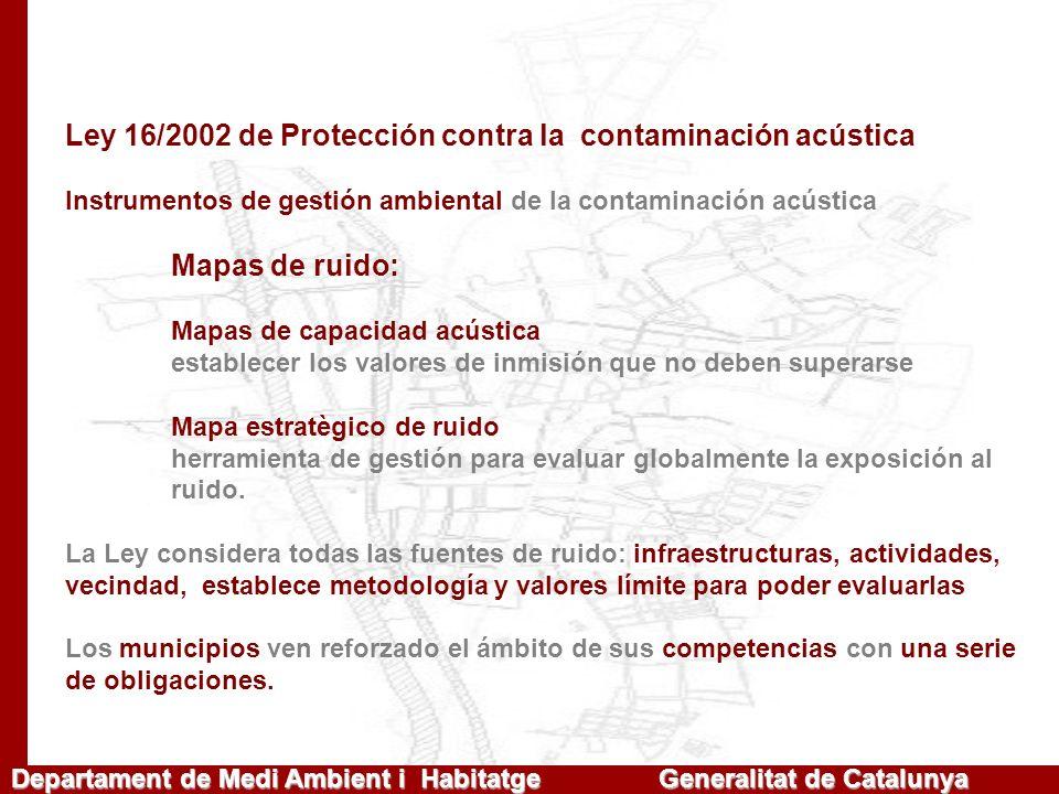 Ley 16/2002 de Protección contra la contaminación acústica