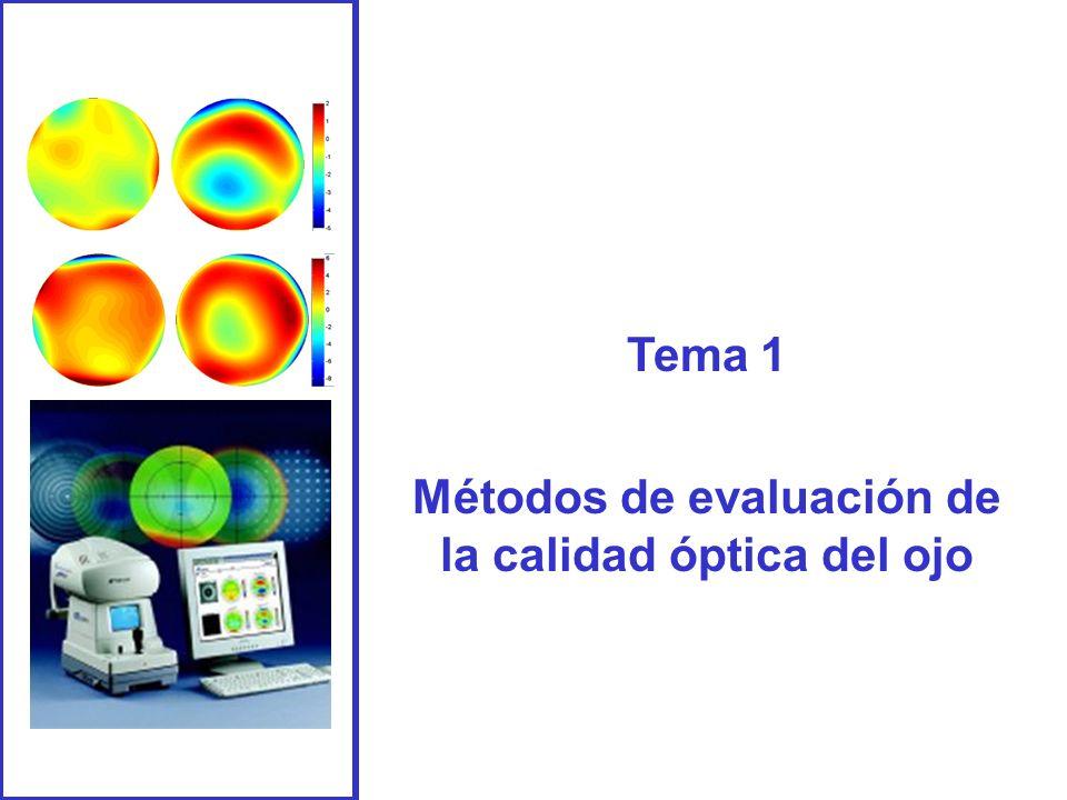 Métodos de evaluación de la calidad óptica del ojo