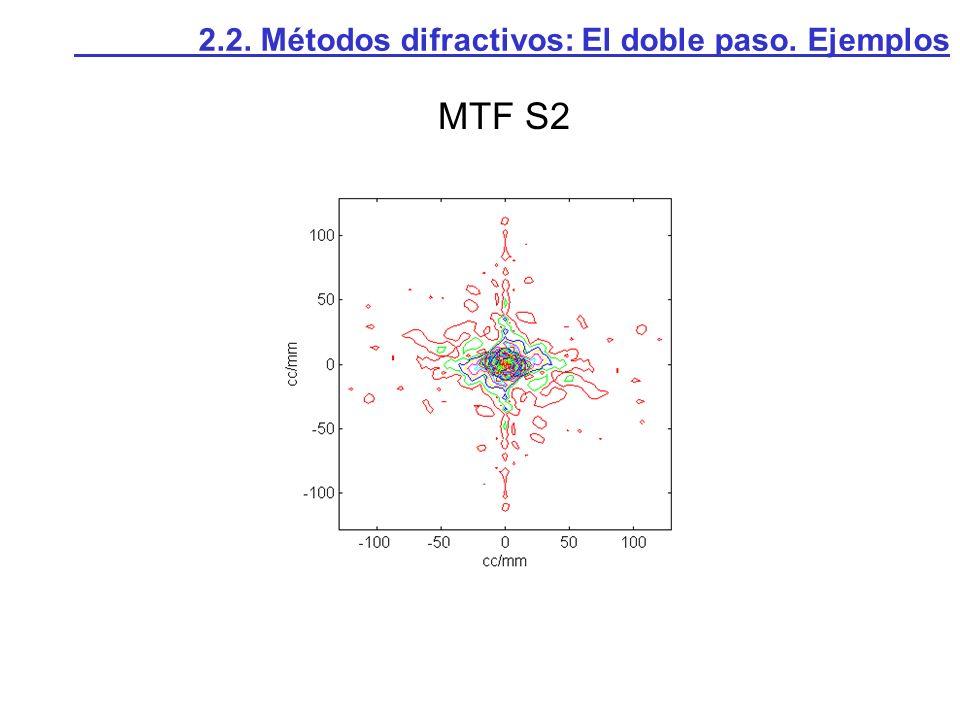 2.2. Métodos difractivos: El doble paso. Ejemplos