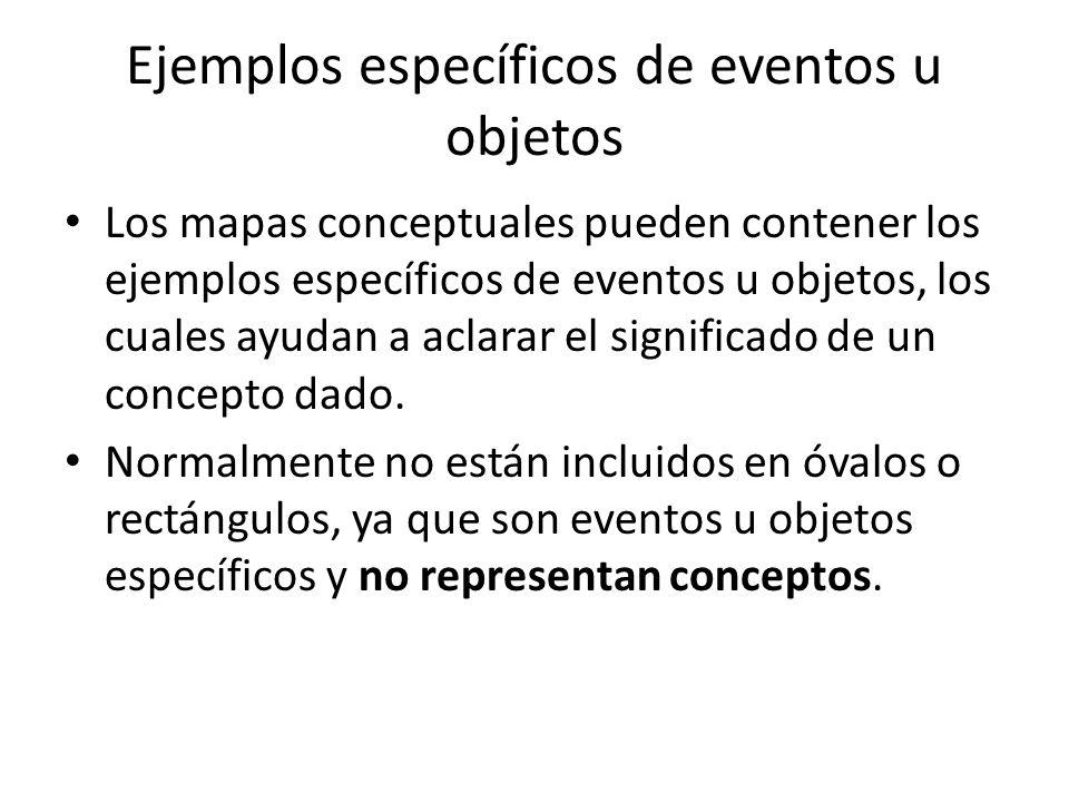 Ejemplos específicos de eventos u objetos