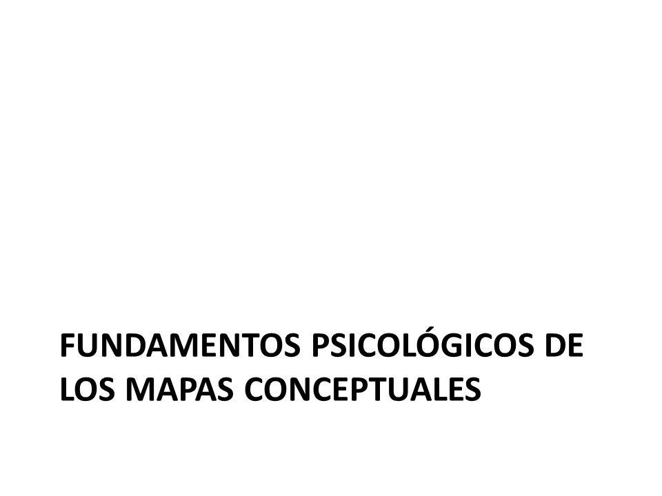 FUNDAMENTOS PSICOLÓGICOS DE LOS MAPAS CONCEPTUALES