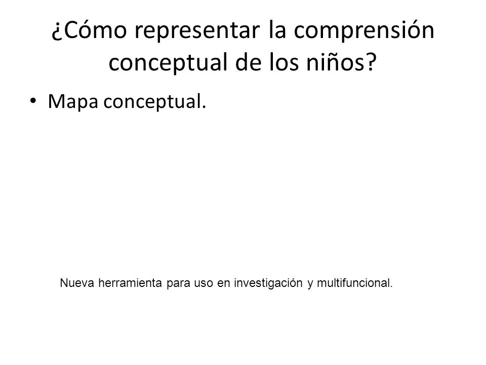 ¿Cómo representar la comprensión conceptual de los niños