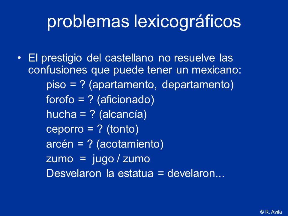 problemas lexicográficos