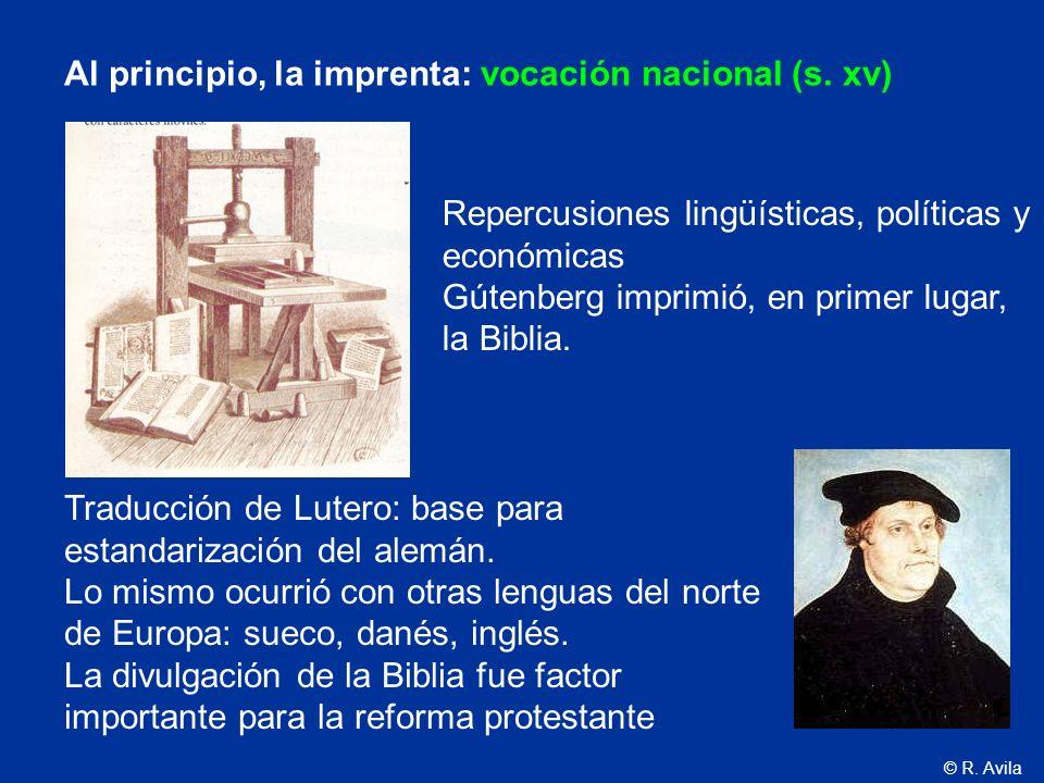 Al principio, la imprenta: vocación nacional (s. xv)