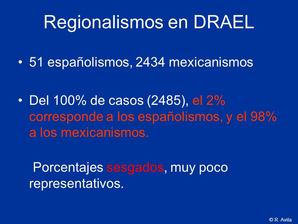 Regionalismos en DRAEL