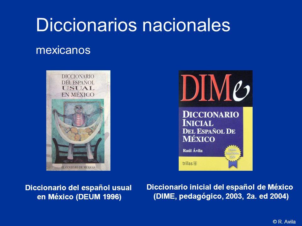 Diccionarios nacionales