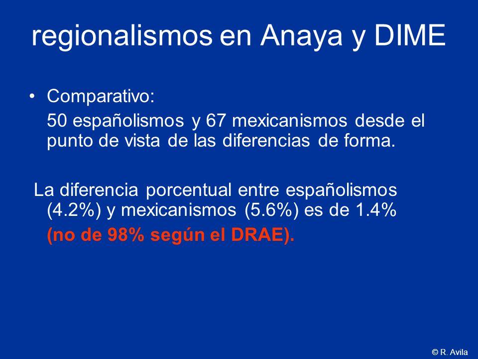 regionalismos en Anaya y DIME