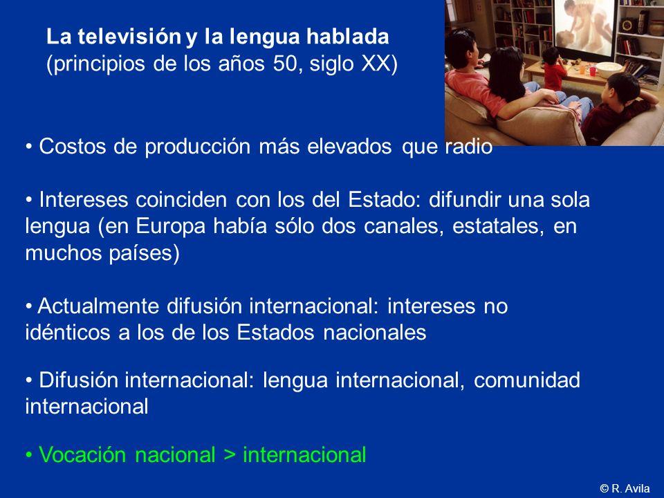 La televisión y la lengua hablada