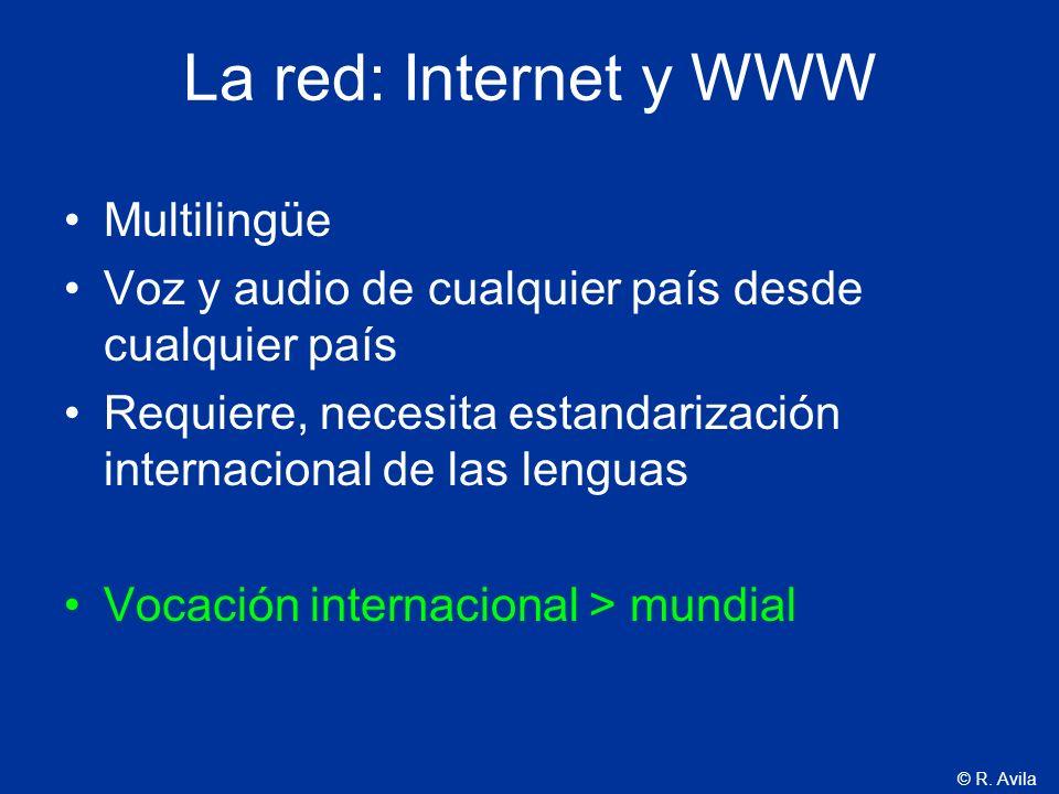 La red: Internet y WWW Multilingüe