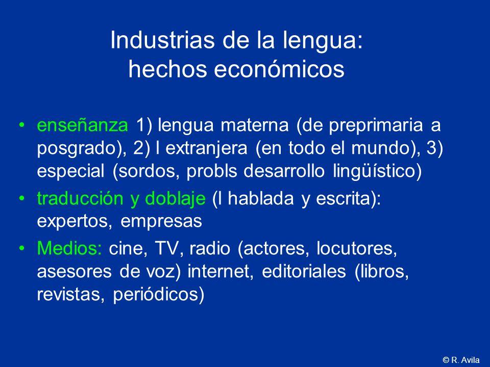 Industrias de la lengua: hechos económicos