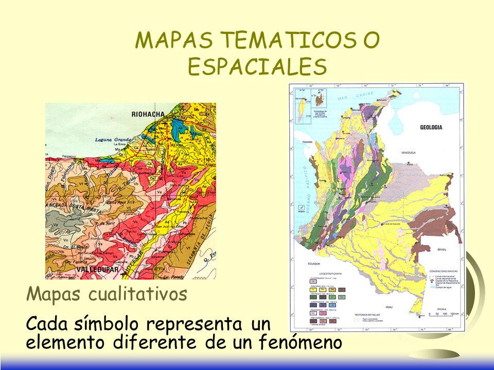 MAPAS TEMATICOS O ESPACIALES