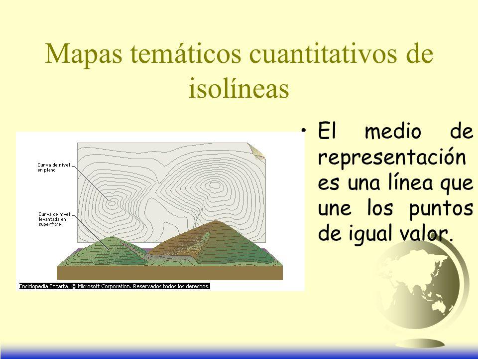 Mapas temáticos cuantitativos de isolíneas